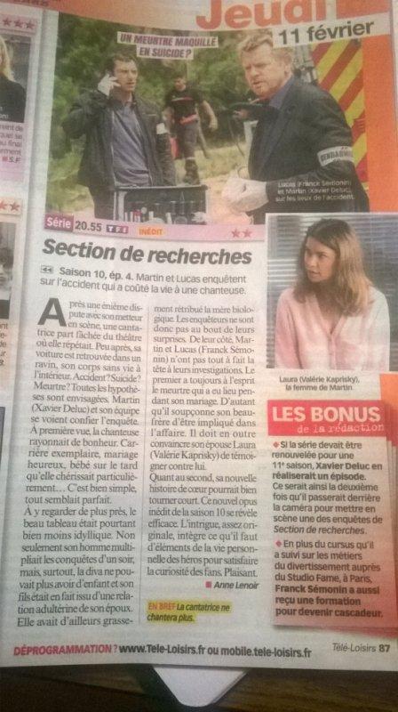 Article Télé Loisirs !