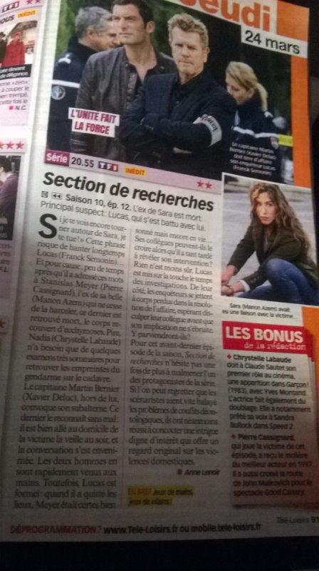 Article de Télé Loisirs