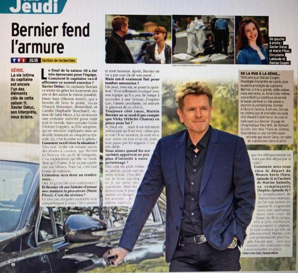 Interview de Xavier Deluc Télé 7 Jours