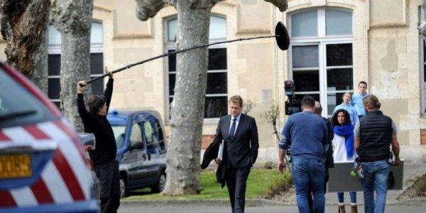 Xavier Deluc en tournage pour France 3