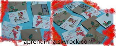 envelopes de natal...