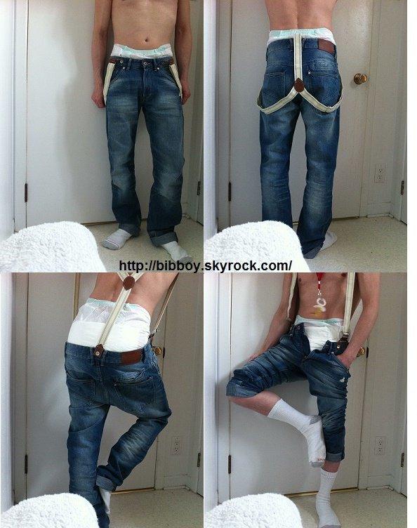 Tu aimes les jeans à bretelles ?