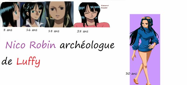 Nico robin one piece - Robin 2 ans plus tard ...