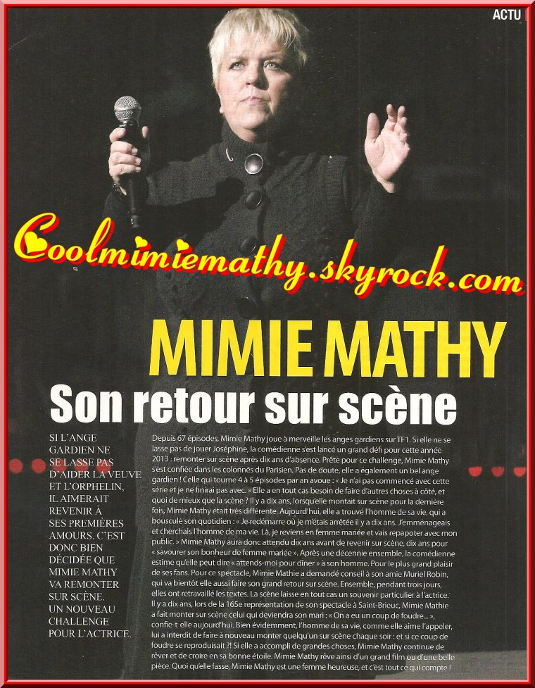 Magazine presse/interview Confidence n°12 avril/ma/ijuin 2013