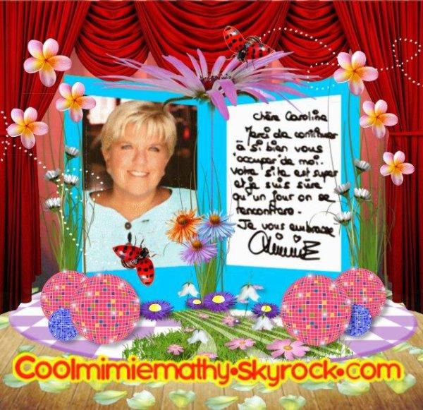 Article Blog Coolmimiemathy  Ma dédicace de ma Mimie