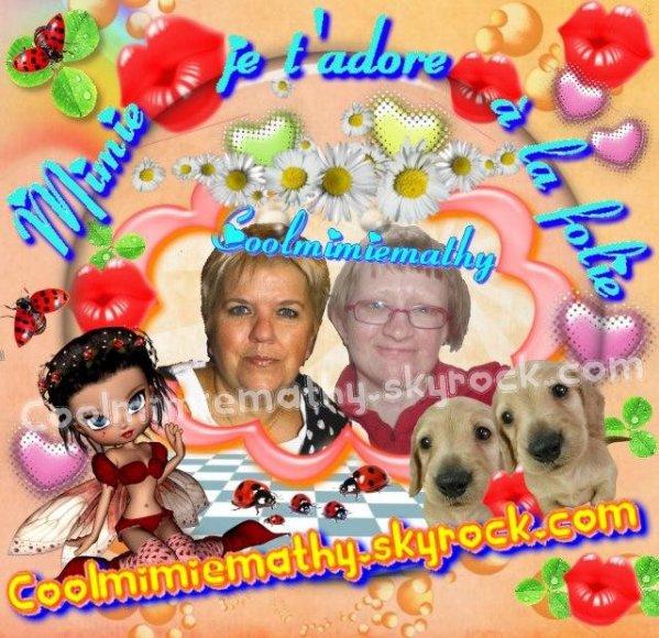Moi, CAROLINE  $) ,   Fan de Mimie Mathy (l)