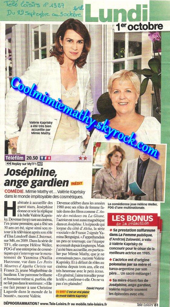 Magazine presse/interview Joséphine ange gardien - Yasmina