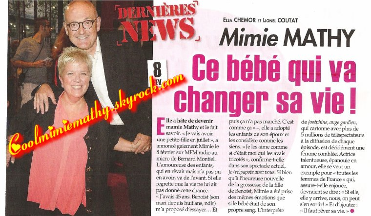 Article magazines/interview France dimanche et ici paris
