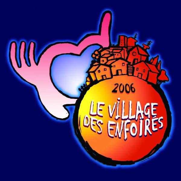 Les restos du coeur - Les Enfoirés  Halle Tony-Garnier, Lyon 2006  Village des Enfoirés