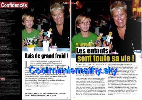 """Article presse/interview  Evènement """"Amimicalement""""   Mimie dans les magazines"""
