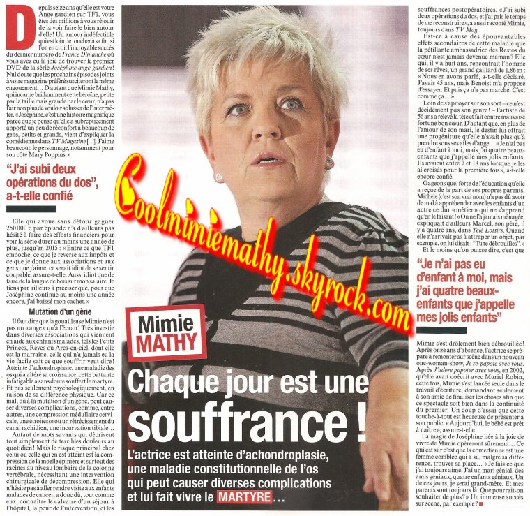 Magazine presse/interview  France dimanche n°°3502 du11 au 17 octobre 2013