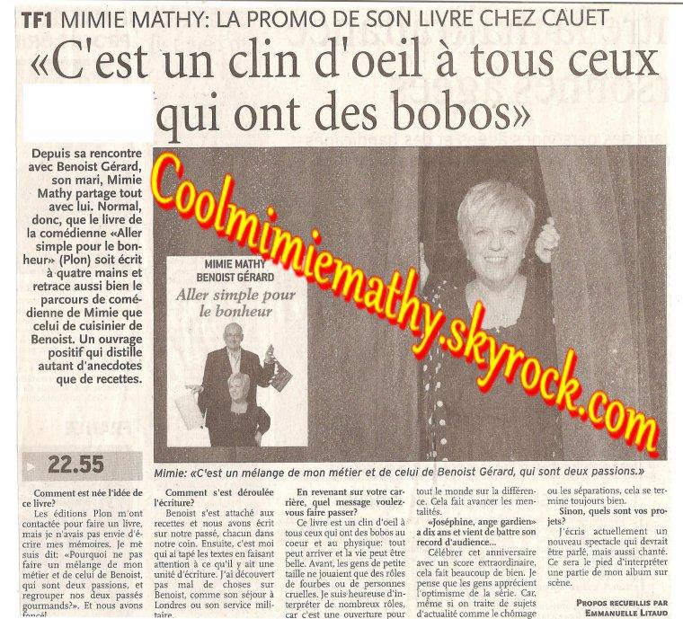 Magazine presse/interview C'est un clin d'½il a tous ceux qui on des bobos - Paris Normandie mars 2007