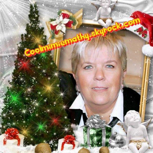 Article presse/interview  Mimie Mathy réunit ses amis pour un dîner de Noël...    Joyeux noël