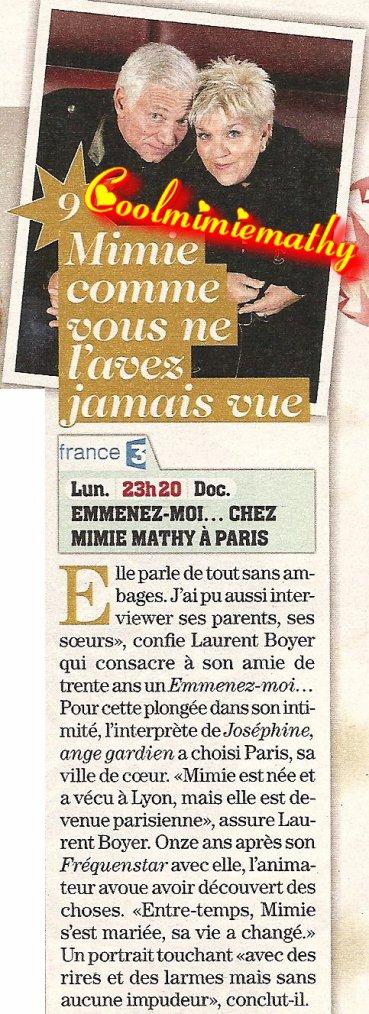 Emission - Télévision - Vidéo  Emmenez-moi ... chez Mimie Mathy à Paris