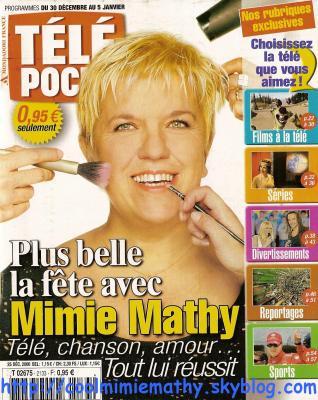 Article presse/interview    Télé poche n° 2133 du 30 décembre au 5 janvier 2007      Plus belle la fête avec Mimie Mathy