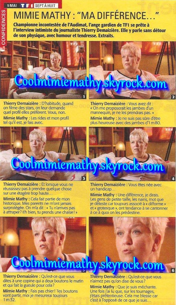 Emission/Télévision   Mimie Mathy dans      Sept à huit