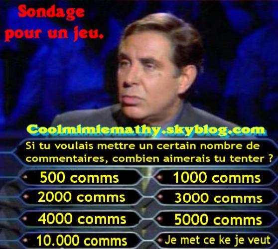 ~~> Mimie 626  Sondage pour un concours