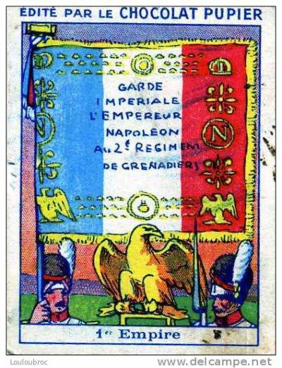 chromo en hommage au 2ème régiment des grenadiers de la garde impériale