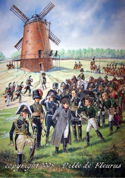 L'arrivée à Fleurus de l'Empereur Napoléon 1er le 16 juin 1815