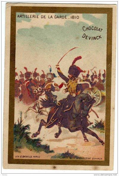 chromo sur l'artillerie de la garde en 1810