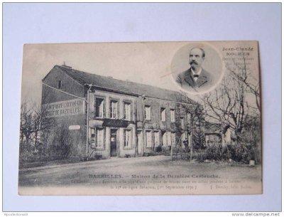 cartes postales anciennes en hommage à Jean-Claude Rocher et à la maison de la dernière cartouche d'hier et d'aujourd'hui (1870)