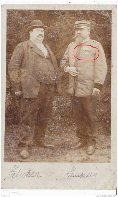 carte photo ancienne d'un vétéran de la guerre de 1870