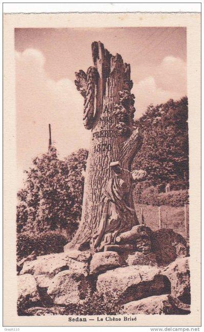 monument du chêne brisé à Sedan 1870