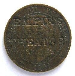 """monnaie de 10 centimes Napoléon III contremarquée """"PEARS SOAP"""""""