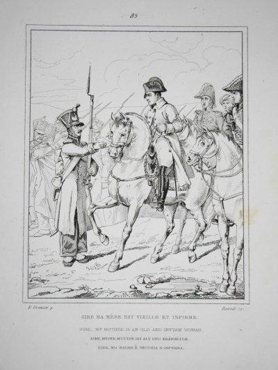 la demande de pension à Napoléon d'un brave pour sa mère