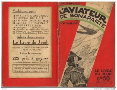 """ancien livret, récit """"l'aviateur de Bonaparte"""" de 1926"""