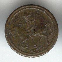 joli bouton de blouse ancien de Napoléon 1er à cheval