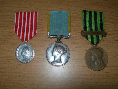 médailles : ITALIE 1859 / CRIMEE 1854 /GUERRE DE 1870