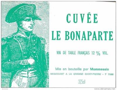 """belle étiquette de vin contemporaine """"Cuvée Le Bonaparte"""""""