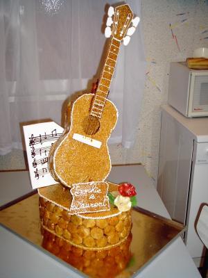 Guitare En Nougatine Decoration De Patisserie