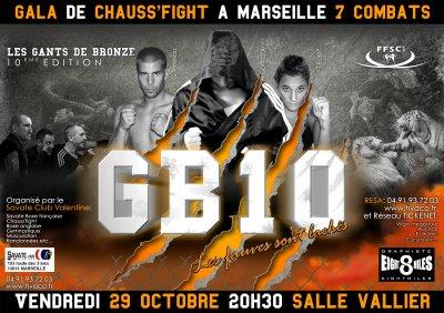 Affiche boxe GB10 format 4/3 (dérivé de boxe française)