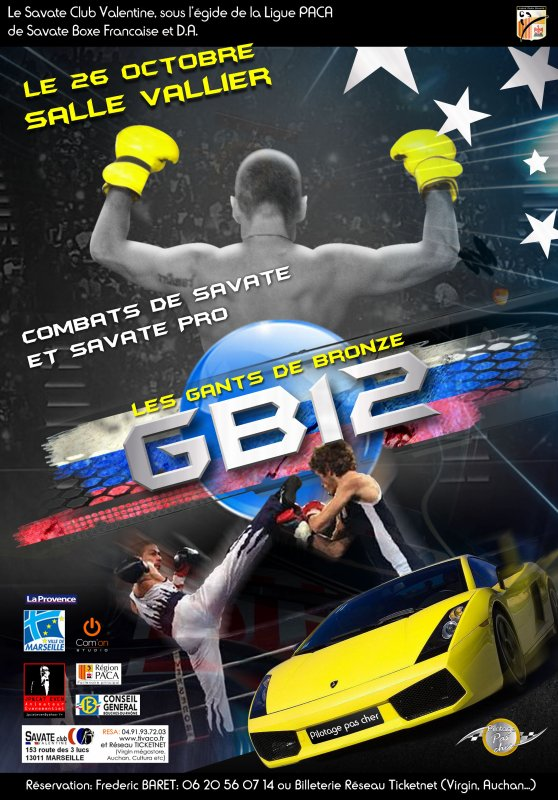 Affiche Savate Boxe française GB12