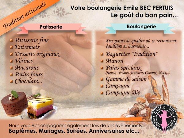 Boulangerie Emile BEC à Pertuis