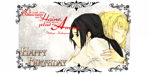 "One shot ""Love me one time, happy Birthday Itachi"""