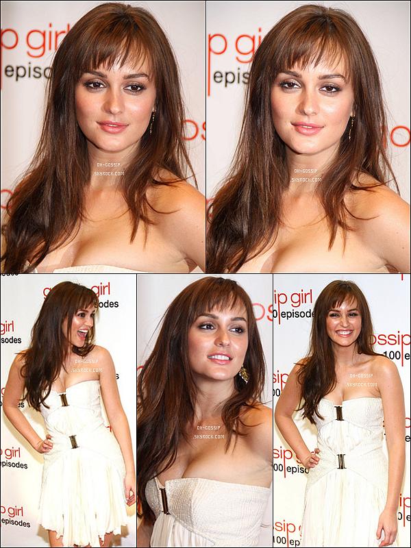 . 19/11/11 | Leigh' était à la soirée de célébration du 100ème épisode de Gossip Girl avec ses cos-stars Leighton portait une robe blanche qu'il lui allait à merveille,dommage qu'il n'y ai pas de photo d'elle avec Penn où tout le cast :( .