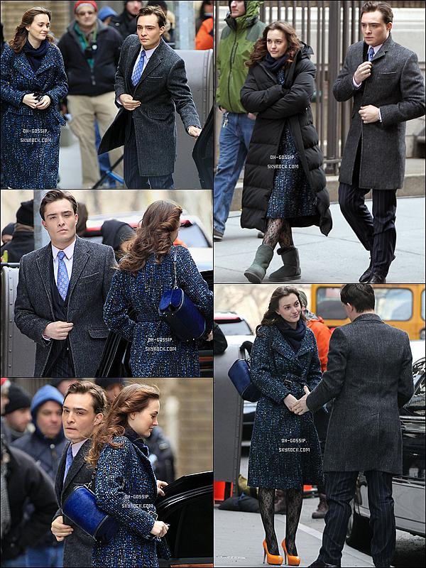 . 05/03/12 | Leighton a été aperçue sur le set de Gossip Girl en compagnie de son co-star Ed Westwick Ils tournent actuellement les scènes pour l'épisode 5x22. Selon des rumeurs Chair auraient été vu entrain de s'embrasser :( .