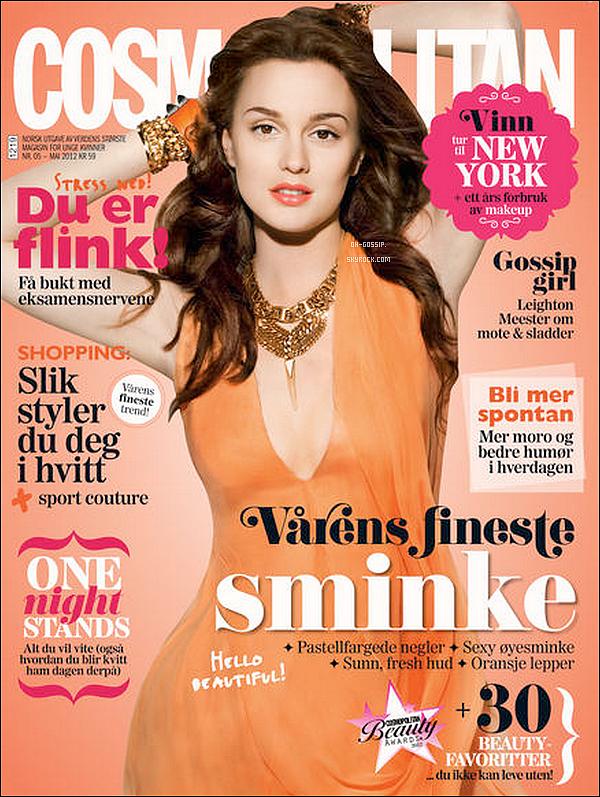 . Leighton est en couverture du magazine Cosmopolitan Norway pour le mois de mai 2012 .
