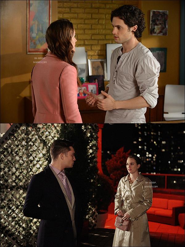 . Découvrez deux stills de l'épisode 5x24 de Gossip Girl intitulé « The Return of the Ring » Cette épisode marquera la fin de cette 5e saison nous y découvrirons enfin quel sera le choix de Blair entre Dan & Chuck. .