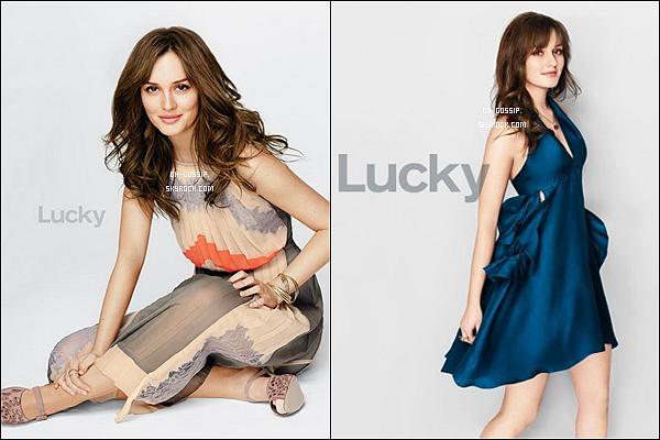 . Découvrez un nouveau photoshoot de Leighton pour le magazine Lucky du mois de juillet .