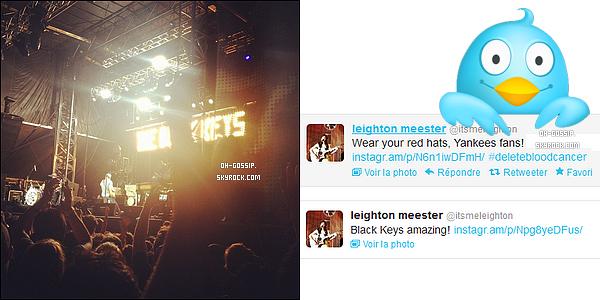 . Découvrez deux nouvelles photos de notre Leighton posté sur son compte twitter .