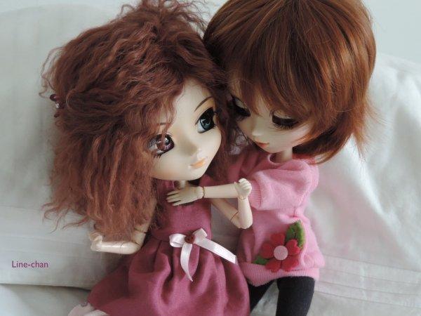 Photo des Dolls de Kawasu avec la mienne ♥