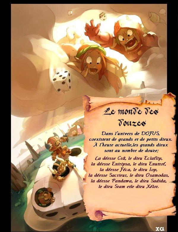 † Les douze dieux  (textes originaux //!\\ )