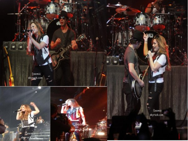 Quelques photos de Demi pendant son concert le 03.05.2012