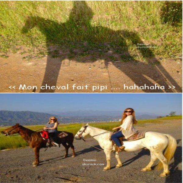 Demi Lovato a postée plusieurs nouvelles photos d'une ballade à cheval avec sa mére via twitter ( 06.05.2012 )