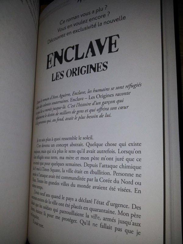 [BAL 21/12/13] Enclave T3 d'Ann Aguirre