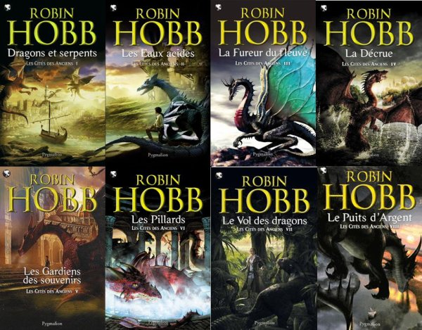 Les Cités des Anciens de Robin Hobb (8 tomes faisant suite aux Aventuriers de la mer)